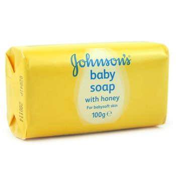 Johnson's Baby Soap With Honey For Babysoft Skin 100g