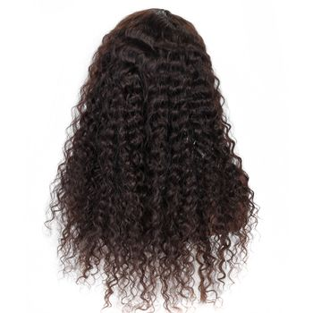 Urembo Platinum Lace Front Wig - 100% Indian Virgin Remy Human Hair Italian Curly Echthaar Perücke