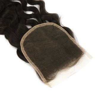 Urembo Platinum 100% Indian Virgin Remy Human Hair 4''x4'' 10x10cm Top Closure ITALIAN CURLY indisches Echthaar Closure