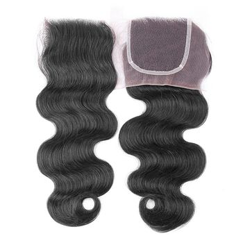 Urembo Platinum 100% Indian Virgin Remy Human Hair 4''x4'' 10x10cm Top Closure BODY WAVE indisches Echthaar Closure