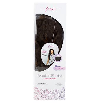Feme Collection - Premium Blended - French Body - ONE PACK SOLUTION Tresse Human Hair Blend Weave