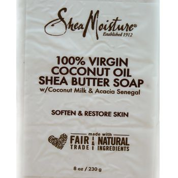 Shea Moisture 100% Virgin Coconut Oil Shea Butter Soap Bar 8oz 230g Seife