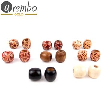 Urembo Gold Wooden Hair Beads Haarperlen aus Holz