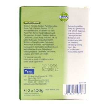 Dettol Anti-Bacterial Original Soap 2 x 100g Seife