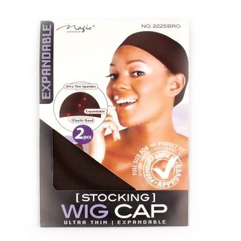 Bee Sales Magic Collection Stocking Wig Cap (2pcs, 2 Stück) (Brown, Braun) #2225BRO