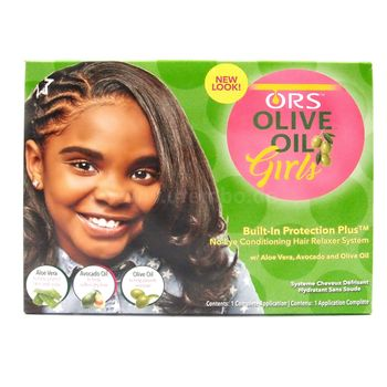 ORS Organic Root Stimulator Olive Oil Girls No-Lye Conditioning Hair Relaxer Kit Haarglättungsmittel-System für Kinder