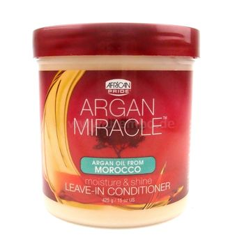 African Pride Argan Miracle Moisture & Shine Leave-In Conditioner 15oz 425g Haarpflegecreme