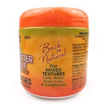 African Pride Shea Butter Miracle Moisture Intense Silky Edges Anti-Frizz Conditioning Gel 6oz 170g Haarpflegegel