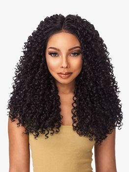 Sensationnel Empress Lace Front Edge Boutique Bundles KINKY CURLY CUSTOM WIG Perücke