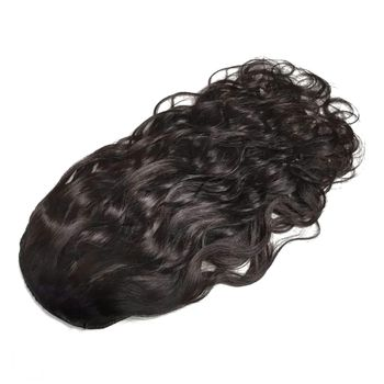 Urembo Platinum Drawstring Ponytail - 100% Indian Virgin Remy Human Hair Body Wave Echthaar