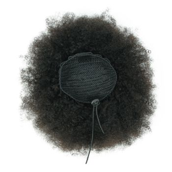Urembo Platinum Drawstring Ponytail - 100% Brazilian Virgin Remy Human Hair Afro Kinky Curly Echthaar