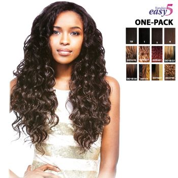 Sensationnel BRAZILIAN natural curly EASY 5 kanubia ONE PACK SOLUTION! Brazilian Hair Curl Patterns Tresse Weave