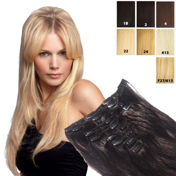 Sensationnel Plus-HH Pro-Clips 8 piece Extension Silky Echthaar Clip-In 100% Human Hair
