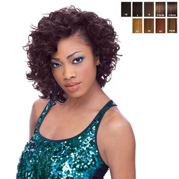 Sensationnel Premium Too - HH Glam Loose Wvg 9 SHORTY 3 pieces of 9'' Tresse Human Hair Blend Weave
