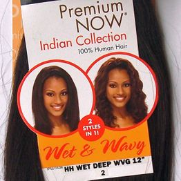Sensationnel Premium Now Indian - Wet Deep Wvg 12 Inch 30cm 2 STYLES IN 1! Echthaar Tresse 100% Human Hair Weave