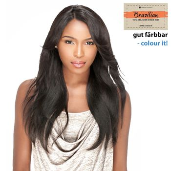 Sensationnel BRAZILIAN - Natural Straight Bare & Natural Echthaar Perücke 100% Human Hair Lace Wig