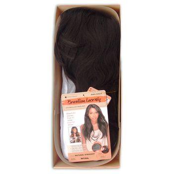 Sensationnel BRAZILIAN - Natural Straight Bare & Natural Echthaar Perücke 100% Human Hair Lace Wig