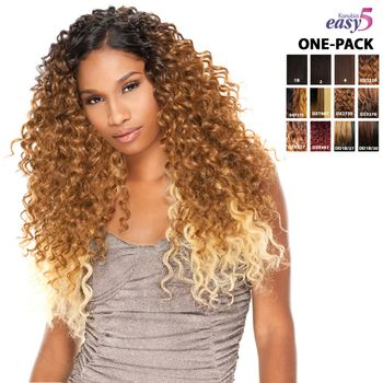Sensationnel natural BOHEMIAN EASY 5 kanubia ONE PACK SOLUTION! Brazilian Hair Curl Patterns Tresse Weave