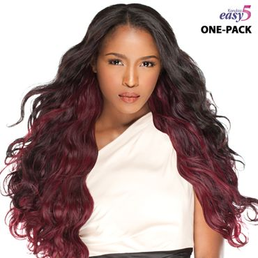 Sensationnel BRAZILIAN natural wavy EASY 5 kanubia ONE PACK SOLUTION! Brazilian Hair Curl Patterns Tresse Weave