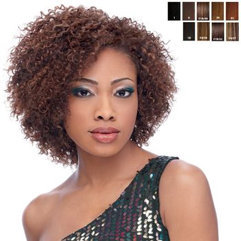 Sensationnel Premium Too - HH Bohemian Wvg 9 SHORTY 3 pieces of 9'' Tresse Human Hair Blend Weave