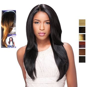 Sensationnel Empress front edge STRAIGHT CUSTOM WIG L parting-HRF Perücke Lace Wig