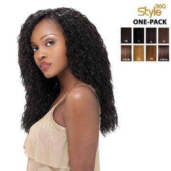 Sensationnel Style 360 - SUPER WAVE 12',14' ONE PACK complete 4 pieces Tresse Human Hair Blend Weave