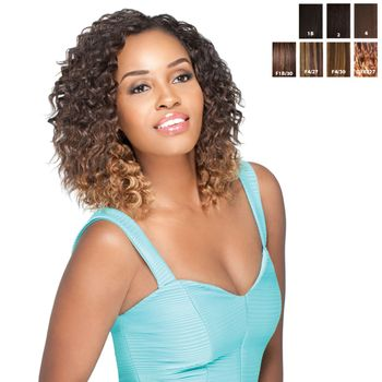 Sensationnel Premium Too - HH Jazz Deep 9 SHORTY 3 pieces of 9'' Tresse Human Hair Blend Weave