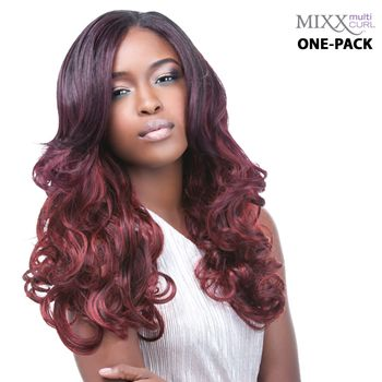 Sensationnel Too Mixx MIAMI - Multi Curl One pack complete Tresse Human Hair Blend Weave