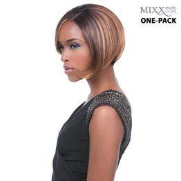 Sensationnel Too Mixx GLOSSY - Multi Curl One pack complete Tresse Human Hair Blend Weave