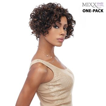 Sensationnel Too Mixx BUBBLY - Multi Curl One pack complete Tresse Human Hair Blend Weave