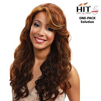 Bobbi Boss Hit 5 - SPANISH WAVE - ONE PACK SOLUTION Tresse Human Hair Blend Weave
