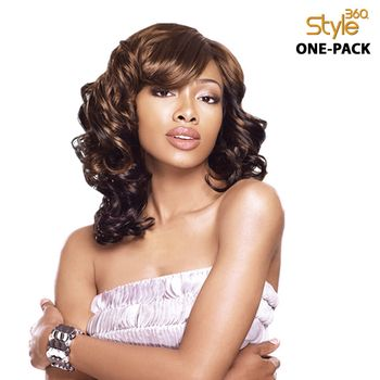 Sensationnel Style 360 - TWIST BODY 12',14' ONE PACK complete 4 pieces Tresse Human Hair Blend Weave