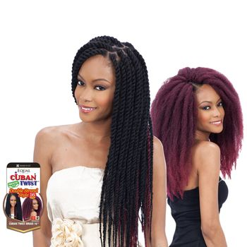 FreeTress Equal - Havana & Double Strand Style - Cuban Twist Braid Bulk 16'' Braids