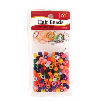 Annie Joy Hair Beads with Elastic Bands assorted multi-coloured Haarperlen und Haargummis bunt