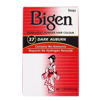 Bigen Dye Permanent Powder Hair Colour 37 Dark Auburn Puder Haarfarbe Rotbraun