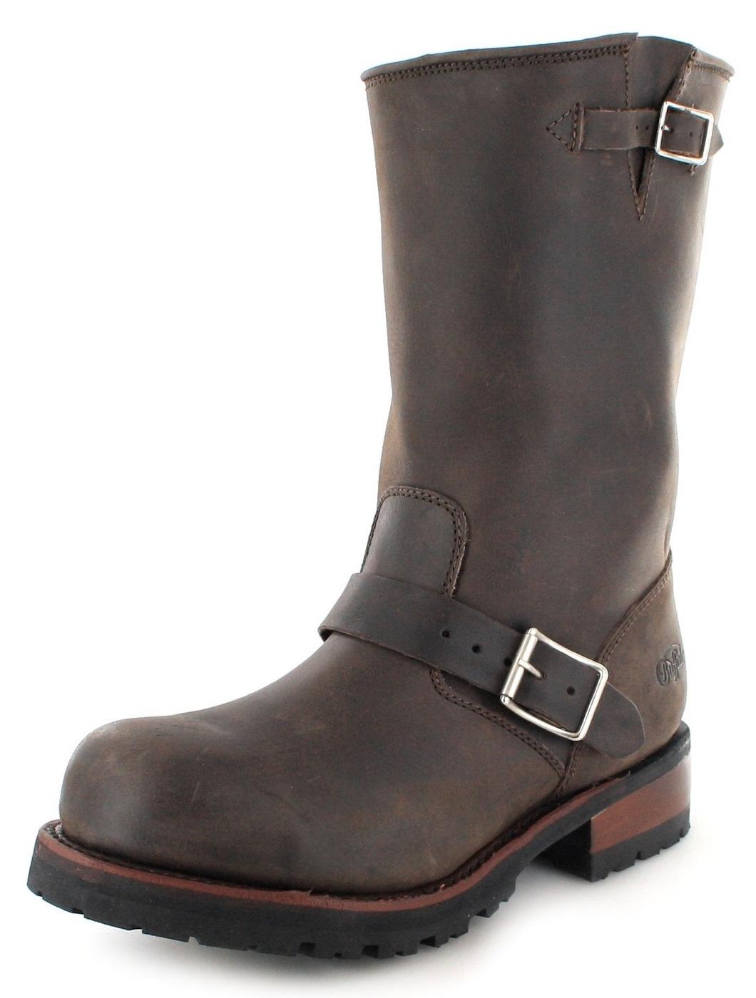 Buffalo Boots 1808 Engineer boot with steel toecap  - brown