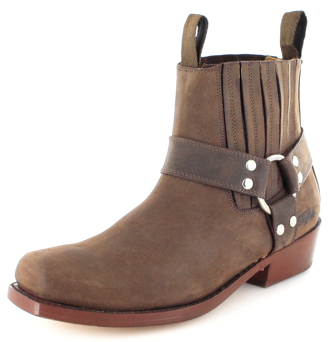 Buffalo Boots 6000 biker ankle boot - brown