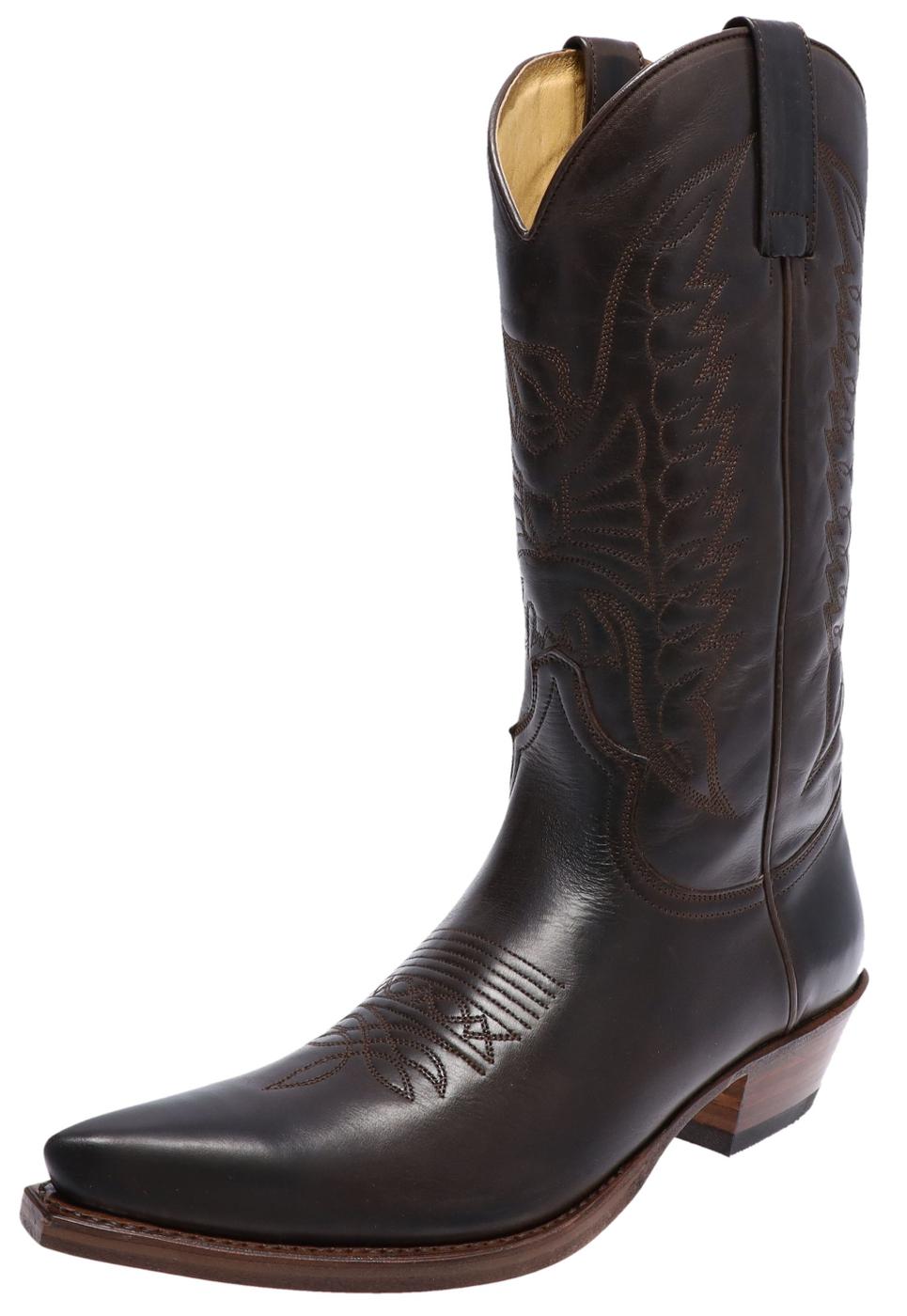 Sendra Boots 2073 Snowbut Marron western laars - Bruin