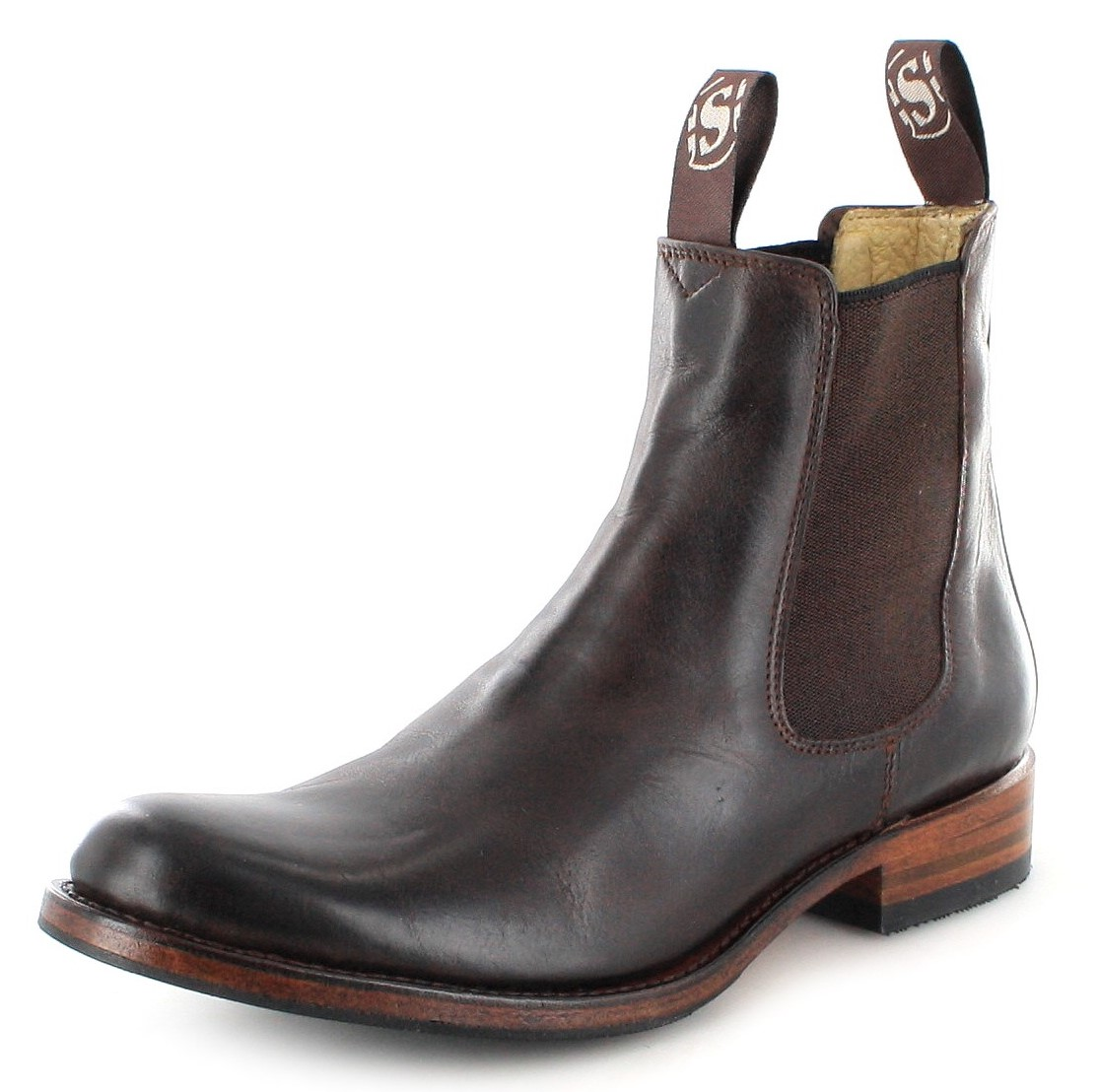 Sendra Boots 5595 Marron Chelsea ankle boot brown