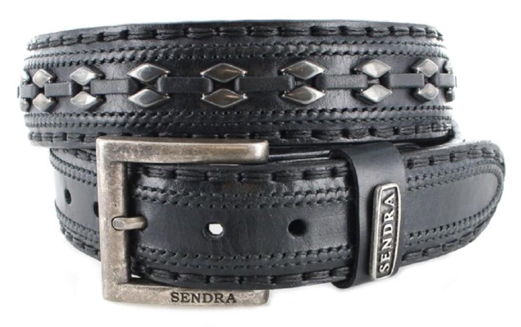Sendra Boots 8340 Black leather belt - black