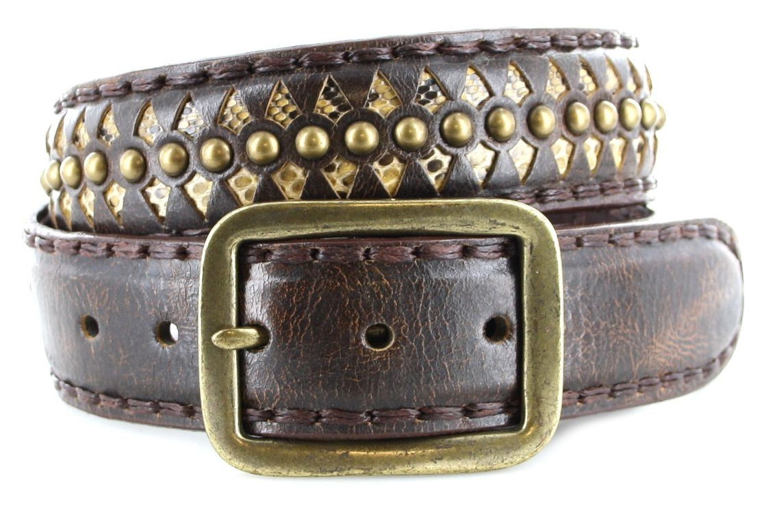 Sendra Boots 511 Natur Antic Jacinto Exotic  leather belt - brown