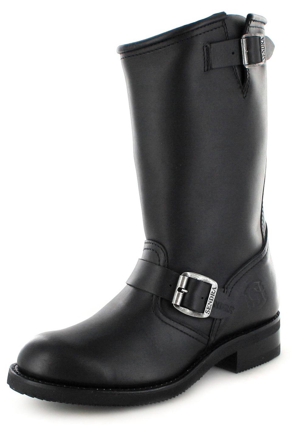 Sendra Boots 2944 Negro Engineer boot with no steel toecap- Black
