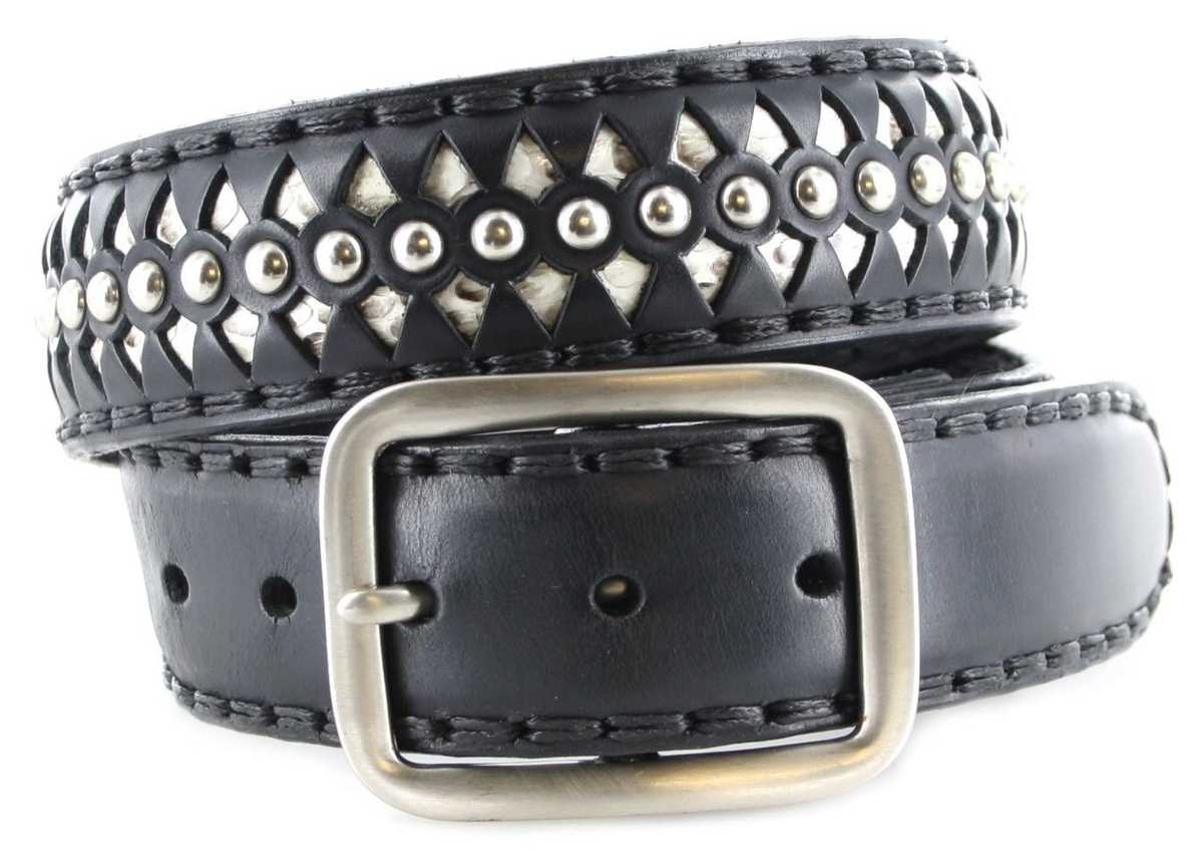 Sendra Boots 511 Black Exotic Ledergürtel - schwarz