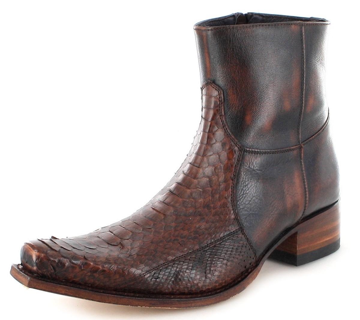 Sendra Boots 5701P Jacinto Fashion Exotic Stiefelette - dunkel braun