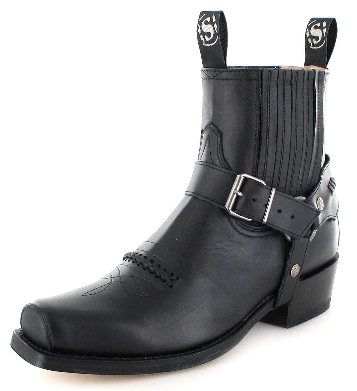 Sendra Boots 6445 Negro biker ankle boot - Black