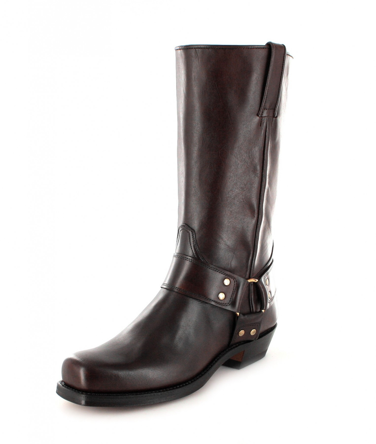 tony mora 1195 houst club marron biker boot - dark brown | fashion