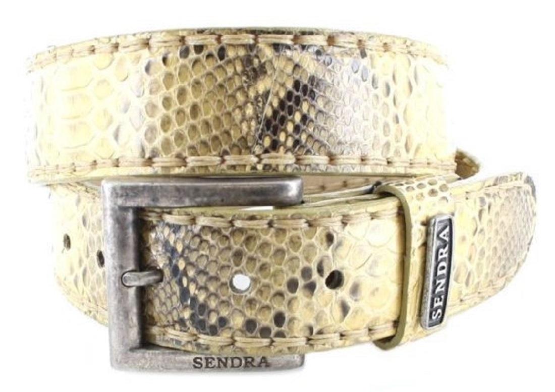Sendra Boots 1016 Panzio Exotic Ledergürtel - beige