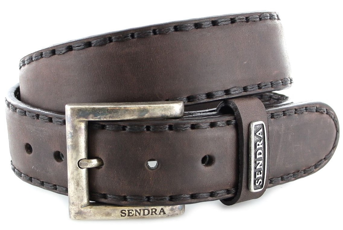 Sendra Boots 8563 Sprinter chocolate leather belt - dark brown