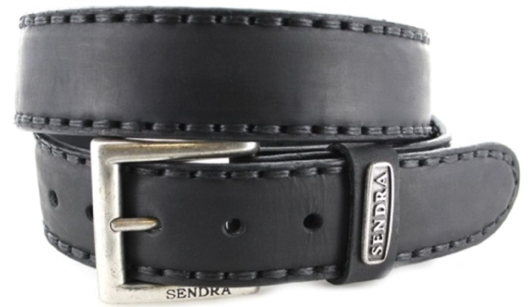 Sendra Boots 8563 Sprinter Negro leather belt - black