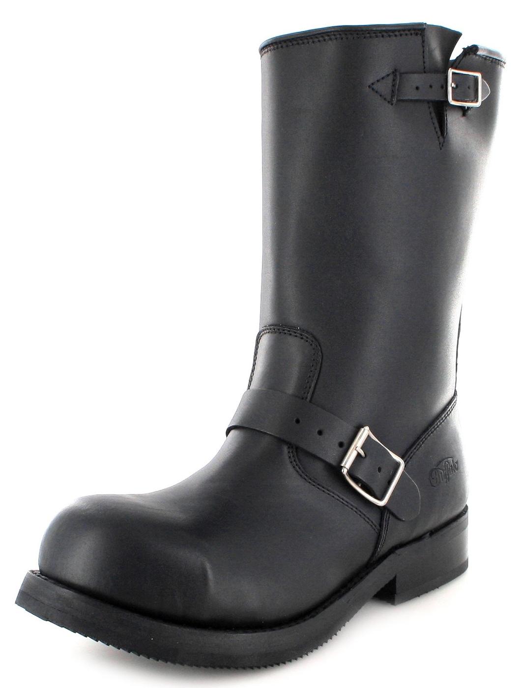 Buffalo Boots 1808A Engineerstiefel mit Stahlkappe - schwarz